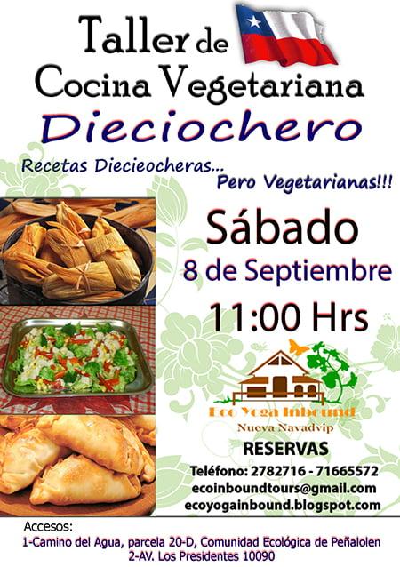 Taller de cocina vegetariana recetas diecieocheras for Taller de cocina teruel