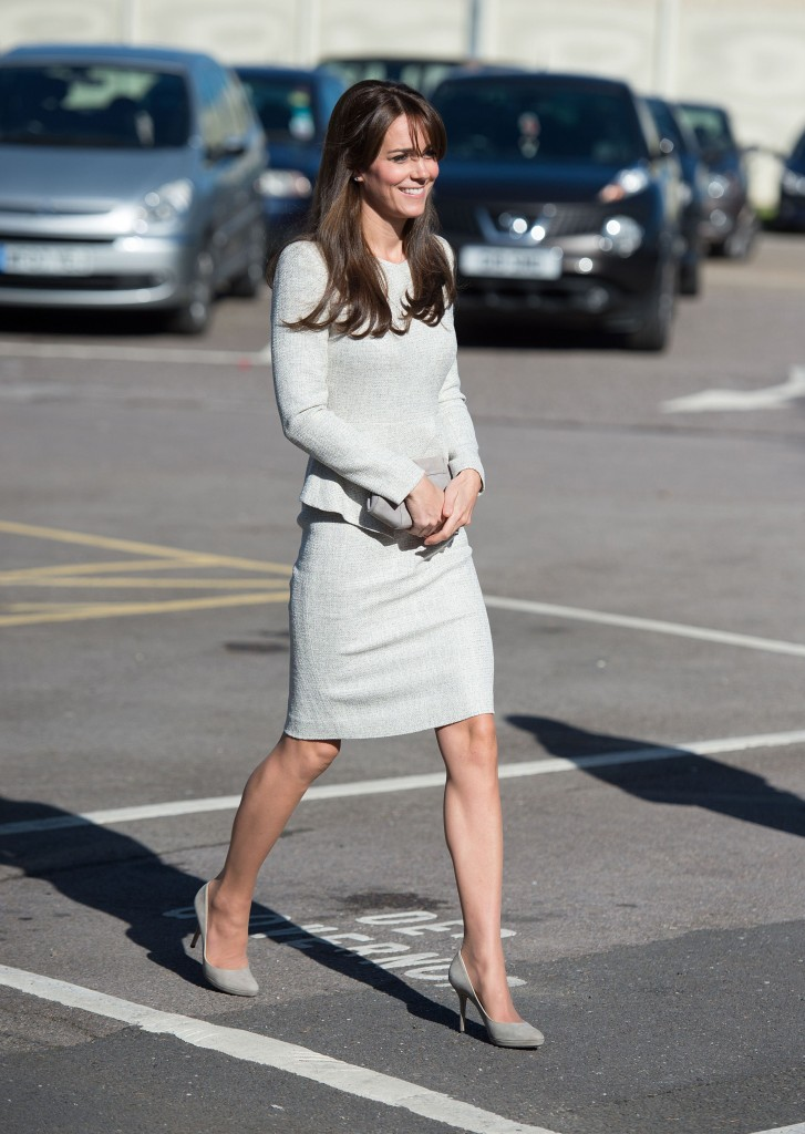 Britain's Kate, Duchess of Cambridge during a visit to Her Majesty's Prison Send near Woking, England, Friday, Sept. 25, 2015.
