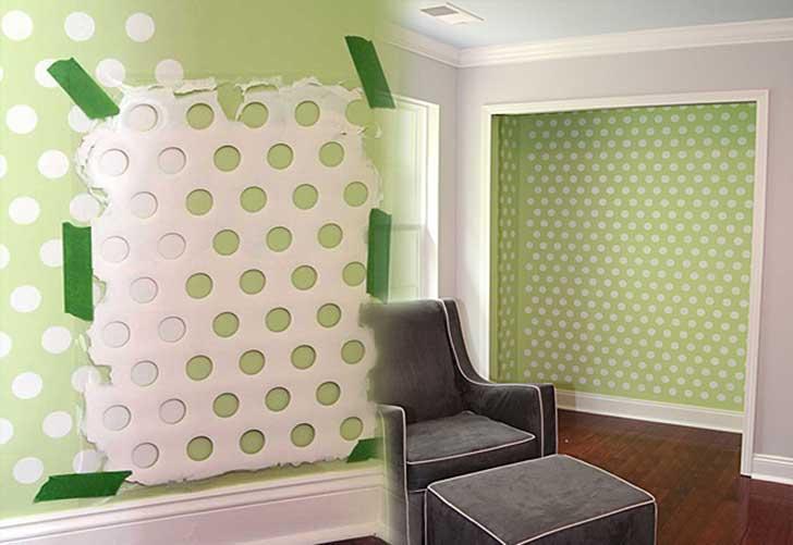 12-Polka-Dots-Wall-Using-an-Old-Laundry-Basket
