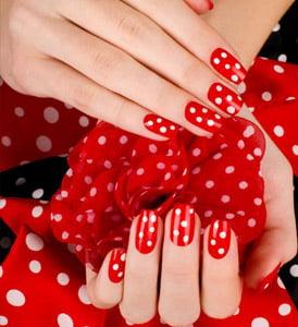 tendencias de unas polka dots