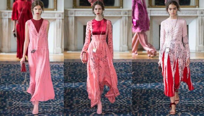 rosado y rojo valentino