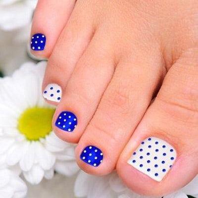 diseños de uñas de pies