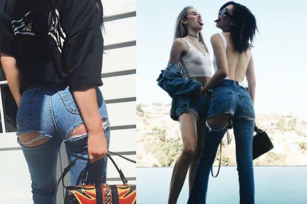 Jeans rasgados en el glúteo 3