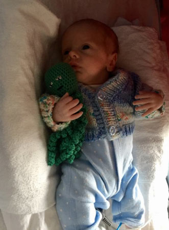 Pulpos a crochet cordón umbilical