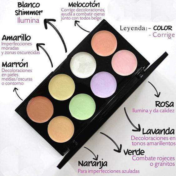 Maquillaje para ojeras colores
