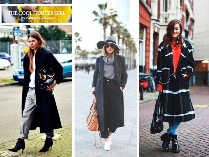Outfit abrigo largo mujer