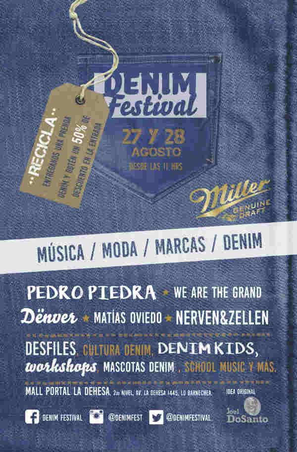 Afiche Denim Festival 2016
