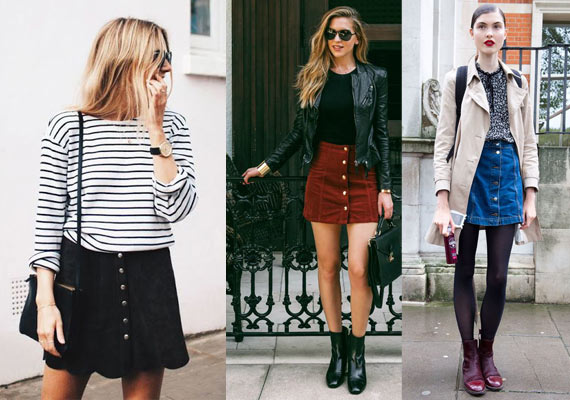 faldas con botones varios