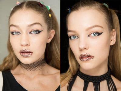 ideas de maquillaje labios glitter