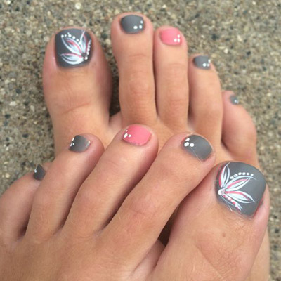 diseños de uñas de pies dedo gordo