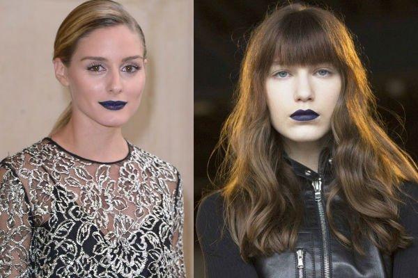 Tendencias en labiales Azules