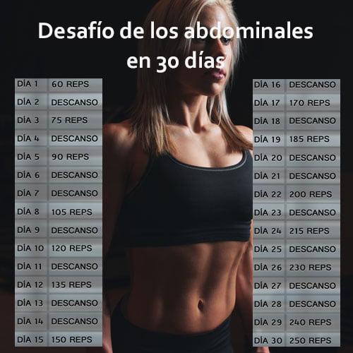 Desafío de los abdominales ejercicio