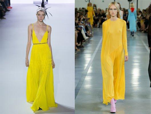 Los colores de la temporada amarillo