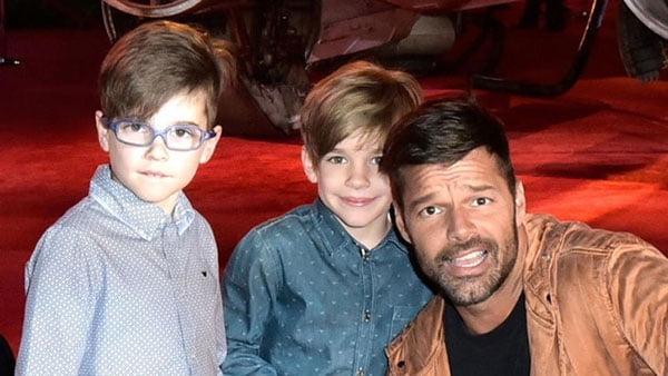 Hijos de Ricky Martin grandes