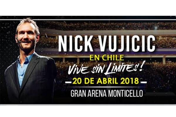 Nick Vujicic Vuelve A Chile Con Su Charla Vive Sin Límites